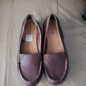 Brown comfort shoes